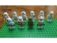 10 lego mini figures starwars