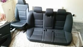 BMW E60 (2007)-Full set of leather interior seats (black) with 2 back door boards £100 ONO