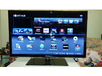 Samsung UE40D5520RK LED SMART TV, Freeview HD built in, Great condition, with glass stand and remote
