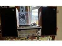 Technics hifi turntable amp wharfdale speakers