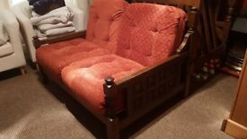 2 seater + 2chairs great condition..