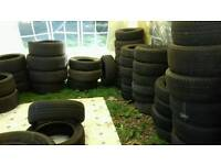 Good selection of tyres to swap