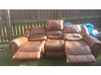 Large 3 seater recliner sofa FREE