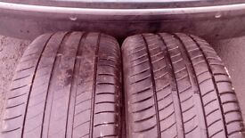 2 x Michelin Primacy 3 tyres 245/45/18