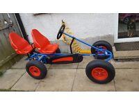 Kids BERG 2 seater pedal go kart / cart