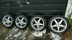 15 inch wolfrace alloy wheels