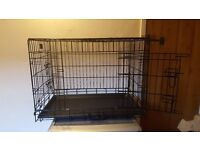 """Large 30"""" x 19"""" x """"22 foldable double door dog crate"""