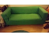 Bright Green barely used IKEA Klippan Sofa Collection Only with removable cover