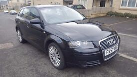 2007,Audi A3 SE TDI 140 in Metallic Black,5 door,Hpi clear!Must view!