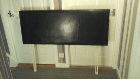 Black faux leather effect headboard/double bed