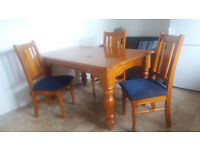 Dining table and 4 chairs. Only £70 ono