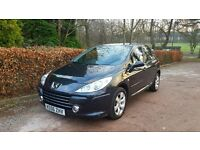 2006 PEUGEOT 307 1.6 HDI BLACK NATIONWIDE DELIVERY CREDIT CARD FACILITY GURANTEED £200 PX VALUE