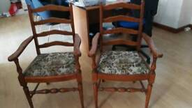 Modern pair of reproduction carver chairs £30 each