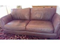 Natuzzi good quality leather 3 seat sofa.