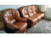 Leather Sofa 1 and 3 person - £80