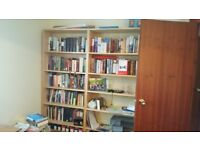 2 Billy Bookcases in Pine, Excellent Condition