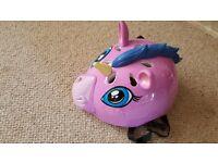 Girl's pink pony helmet, size 6 years +