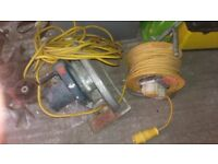 110v extension cable and 110v old cicular saw