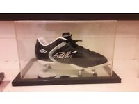 Sir Geoff Hurst Autographed Football boot with c.o.a.