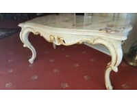 Antique coffee table from marble