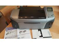 Epson Stylus Photo R300 Colour Ink Jet Printer with instructions software and cd/dvd tray