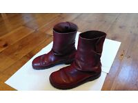 Boots- handmade by Conker, Totnes. Cherry red, size 4 women