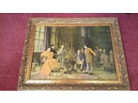 """PAIR - Fiehl reproduction Oils """"THE CONFERENCE"""" & """"SETTING THE BOUNDARY"""" By M.Dovaston"""