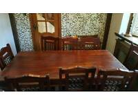 Solid wooden dining table