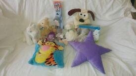 Job lot 15 used Soft Toys various makes/Disney Pillows Rabbit Sheep bear koala