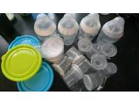 4 9oz Tommee tippee bottles and other bits
