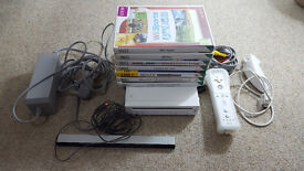 Nintendo Wii KIDS Bundle NICE SET UP 7 Games SPORTS PLAY 1 controller & Nunchuck