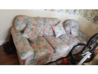 sofa and 2 armchairs in good condition from a non smoking home