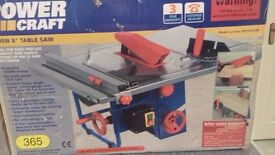 power craft 1000w 8ins table saw.