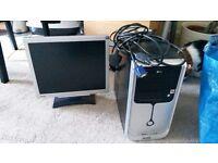BenQ Monitor and tarra Desktop PC