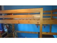 Single high cabin bed with desk