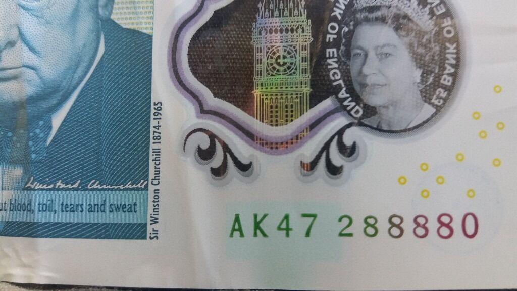 5 pound note AK47 288880