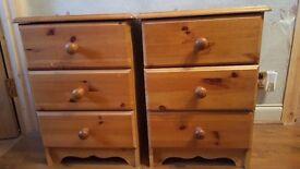 Bedside cabinet's x2