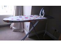 Philips iron with ironing board
