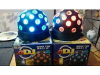 A Pair of ADJ Mini Tri Led Ball II