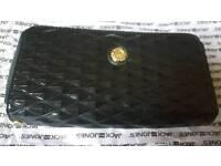 LADIES J&D PU LEATHER CLUTCH black bag