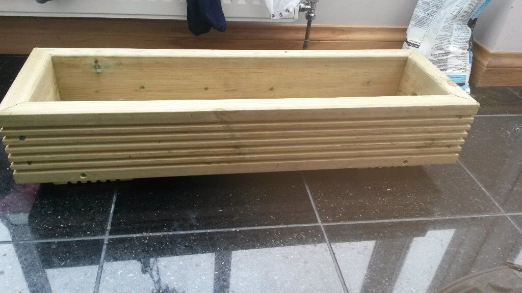 Wooden planters made from decking 1 buy sale and trade ads for Garden decking gumtree