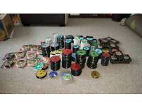 179 SPOOLS MASSIVE MASSIVE LOT OF FISHING LINE