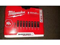 "Milwaukee 49-66-4484 Wrench Impact Sockets Shockwave 9 Piece 3/8""~3/4"" new 2016"