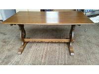 Old Charm Solid Oak Dining Table