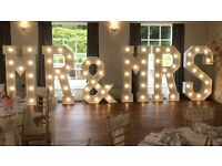"Hire our stunning 5ft Light Up""MR & MRS"" £250"
