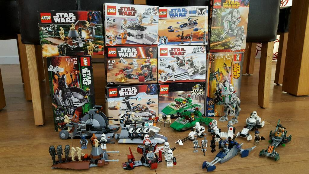 Lego Star Wars X 10 Sets All 100 Complete With All Minifigures