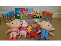 Books and soft toy bundle