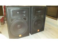 Pair of JBL JRX115 P.A Speakers & Gemini XPB1600 1600w Amplifier