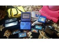 Nintendo Game Boy SP Advance Blue Bundle