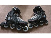 Adult Rollerblades women's size 8 with protection pads all in very good condition